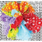 It's Elementary, My Dear- Multi-Color Fabric Flower 02