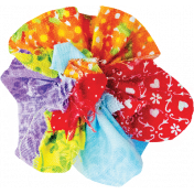 It's Elementary, My Dear- Multi-Color Fabric Flower 02