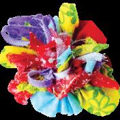 It's Elementary, My Dear- Multi-Color Fabric Flower 01