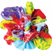 It's Elementary, My Dear- Multi-Color Fabric Flower 01