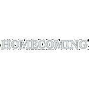 Homecoming Word Art