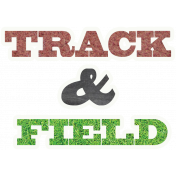 Track & Field Word Art