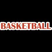 Basketball Word Art