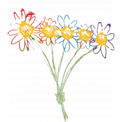 A Bouquet of Freshly Sharpened Pencils- Doodle Flower Bouquet