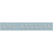 Pre Algebra Word Snippet