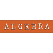 Algebra Word Snippet