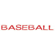 Baseball Word Art