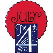 July the 4th Word Art