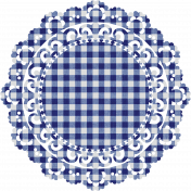 Independence Blue Gingham Doily