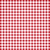 Independence Red Gingham Paper