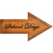 School Days Word Art Arrow