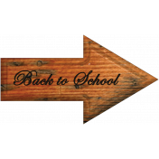 Back to School Word Art Arrow