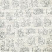 Light Gray Alice In Wonderland Paper