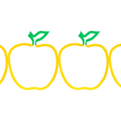 Reading, Writing, and Arithmetic- apple border
