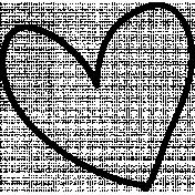 Heart Doodle Template 001