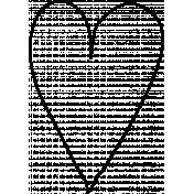 Heart Doodle Template 003
