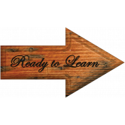 Ready to Learn Word Art Arrow
