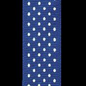 Reading, Writing, and Arithmetic- Blue Polka Dot Ribbon