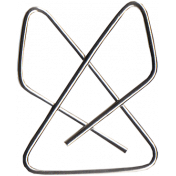 Reading, Writing, and Arithmetic- Fancy Silver Paper Clip