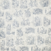 Dark Blue Alice in Wonderland Paper