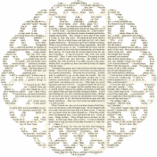 Reading, Writing, and Arithmetic- newsprint doily