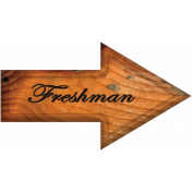 Freshman Word Art Arrow