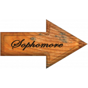 Sophomore Word Art Arrow