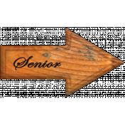 Senior Word Art Arrow