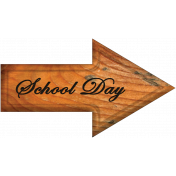 School Day Word Art Arrow