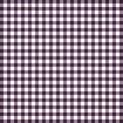 Thankful- Purple Gingham Paper