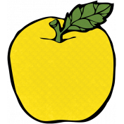 Reading, Writing, and Arithmetic- Yellow Apple