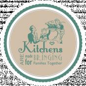 Grandma's Kitchen Round Sticker