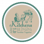 Grandma's Kitchen Round Sticker
