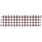 Brown Gingham Washi Tape