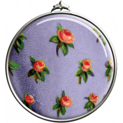 Purple and Orange Floral Pendant