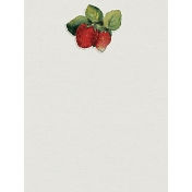 Strawberry Journal Card