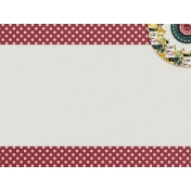 Red Polka Dot Journal Card