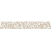 Tan and White Floral Washi Tape