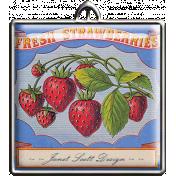 Square Strawberry Pendant