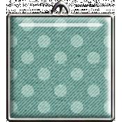 Teal Polka Dot Square Pendant