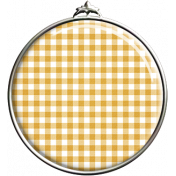 Yellow Gingham Pendant