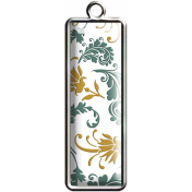 Damask Pattern Rectangle Pendant 02