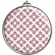 Red Scroll Patterned Pendant