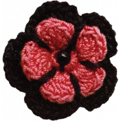 Red Crochet Flower