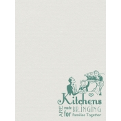 Kitchens Bring Families Together Journal Card