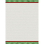Grandma's Kitchen Green and Red Edges Journal Card