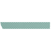 Teal Polka Dot Washi Tape
