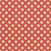 Grandma's Kitchen Orange Big Dots Paper