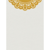 Yellow Doily Journal Card