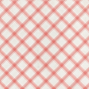 Grandma's Kitchen- Coral Plaid Paper